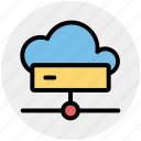 cloud, cloud computing, connection, disk, hard, hdd, network