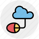cloud computing, cloud data, cloud monitoring, data center, mouse icon