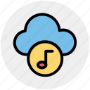 audio, cloud and music note, cloud music concept, cloud with music sign, music cloud, music note, musical cloud