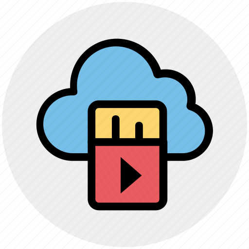 Cloud computing, cloud computing concept, cloud music, cloud networking, multimedia, music, music on cloud icon - Download on Iconfinder