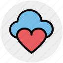 cloud computing, cloud heart, cloud love, heart, online dating, online romance, romantic weather