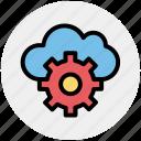 cloud computing, cloud gear, cloud network settings, cloud technology, internet cloud with gear, internet configuration setting, settings concept