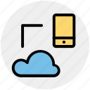 cloud, cloud computing, icloud, mobile, share, sharing, storage icon