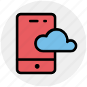 cloud, cloud mobile, computing, mobile, smartphone icon