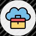 bag, business, business bag, cloud, cloud computing, office bag, suitcases