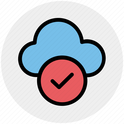 approve network, checkmark, cloud check, cloud computing, cloud internet, cloud network icon