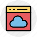 analysis, business, cloud, computing, office, web page, website icon