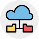 cloud, cloud computing, cloud data, cloud folders, data sharing, sharing icon