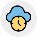 backup, cloud clock, cloud computing, history, schedule, timer icon