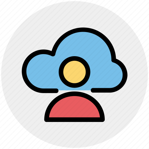 Cloud computing, cloud internet connectivity, cloud internet usage, cloud internet user, cloud network icon - Download on Iconfinder