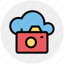 camera, cloud, cloud computing, image, multimedia, photo, picture icon icon