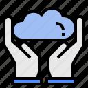 client, cloud, computing, data, platform, server, user icon