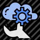 analysis, cloud, configuration, platform, server, setting icon