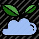cloud, environmental, friendly, server, user icon