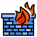 firewall, internet, protection, security, user, virus icon