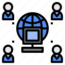 access, internet, online, sever, universal, users icon