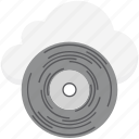 cd, cloud media, cloud multimedia, cloud network, online media icon