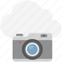 cloud camera, cloud image, cloud photo, cloud picture, modern computing, online camera, online media icon