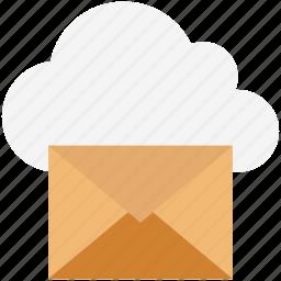 cloud communication, cloud computing, cloud mail, cloud service, cloud storage, data cloud, mail encryption icon
