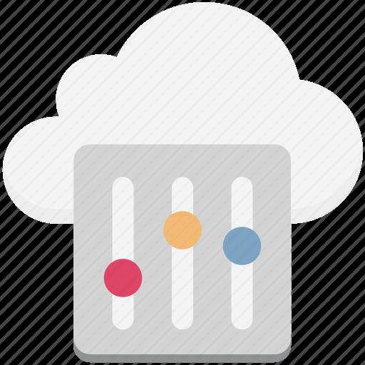 adjuster, cloud maintenance, cloud setting, network settings, settings icon
