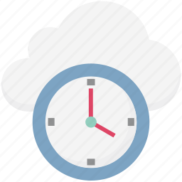 cloud, cloud clock, cloud computing, history, schedule, timer, watch icon