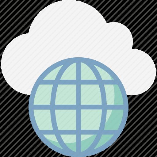 cloud computing, global network, globe, globe grid, icloud, internet, internet connection icon