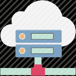 database, network server, server, server connection, server storage, web hosting icon
