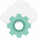 cloud maintenance, cloud repair service, cloud settings, cog, gear, network settings, settings icon