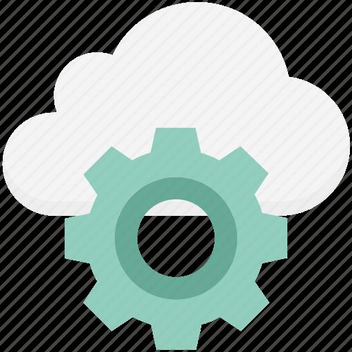 cloud maintenance, cloud repair service, cloud settings, cog, gear, network settings, settings icon