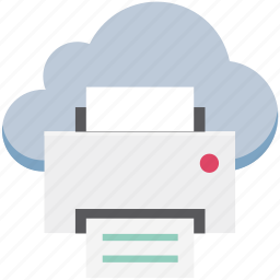 fax, icloud, inkjet printers, laser printers, printer, printing machine icon