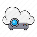 beamer, cloud, device, presentation, projector icon