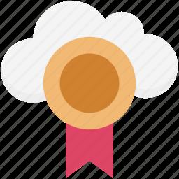 cloud computing, premium badge, quality badge, web ranking, web rating icon