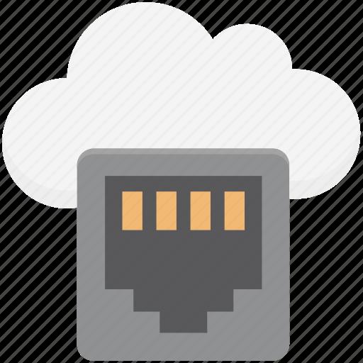 cloud computing, cloud connection, cloud plugin, cloud server, internet connection, power plug, technology icon