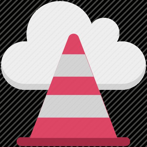 cloud cone, cloud traffic, data highway, icloud, information superhighway, internet traffic, traffic cone icon
