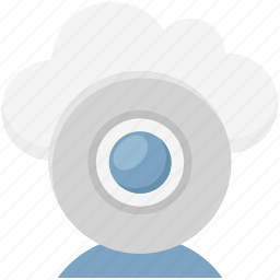 cloud camera, live chatting, online multimedia, video call, web camera, webcam icon