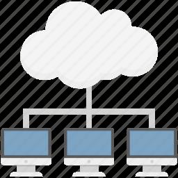 cloud computing, cloud network, network access, network hosting, network sharing, server cloud icon