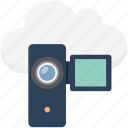 camcorder, camera, electronic camera, filming, handycam, video camera, video recording icon