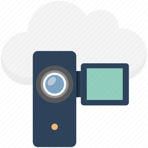 camcorder, camera, electronic camera, filming, handycam, video camera, video recording icon