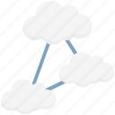 cloud computing, cloud network, network access, network hosting, network sharing, server cloud icon