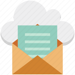 cloud email, envelope, ilcoud, inbox, letter, mail, message icon