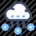cloud computing, cloud network, cloud storage, remote server, saas icon