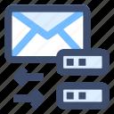 cloud clients, cloud computing, data exchange, mail server, saas icon
