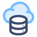 cloud database, cloud server, cloud storage, online server, online storage icon