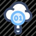 cloud data, search data, search engine, seo icon