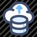 cloud network, cloud server, cloud storage icon