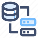 data transfer, database server, get data, query data icon