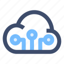 cloud data transfer, cloud network, cloud storage, shared drive icon