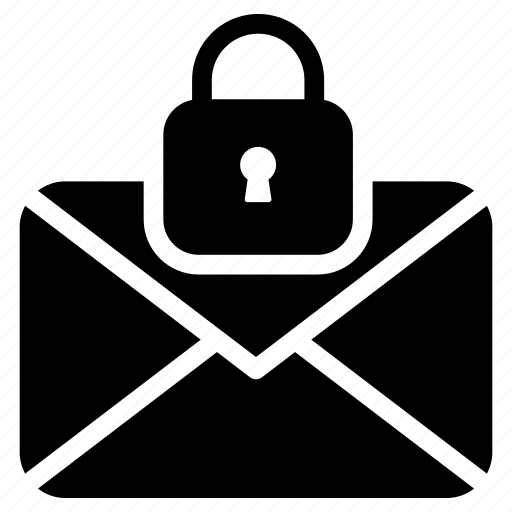 envelope lock, message lock, message security, secret message, sms safety icon