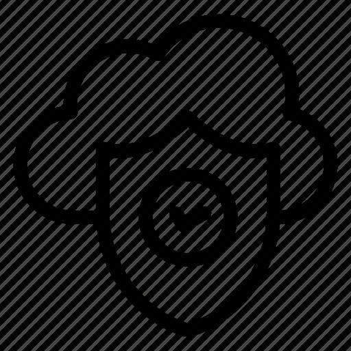 cloud computing, cloud data protection, cloud hosting, cloud network, cloud services, cloud technology icon