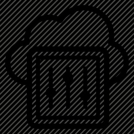 cloud computing, cloud configuration, cloud data preferences, cloud hosting, cloud option, cloud services icon